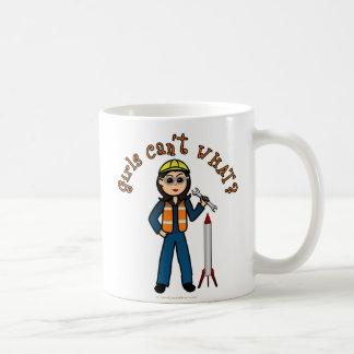 Light Rocket Scientist Girl Coffee Mug