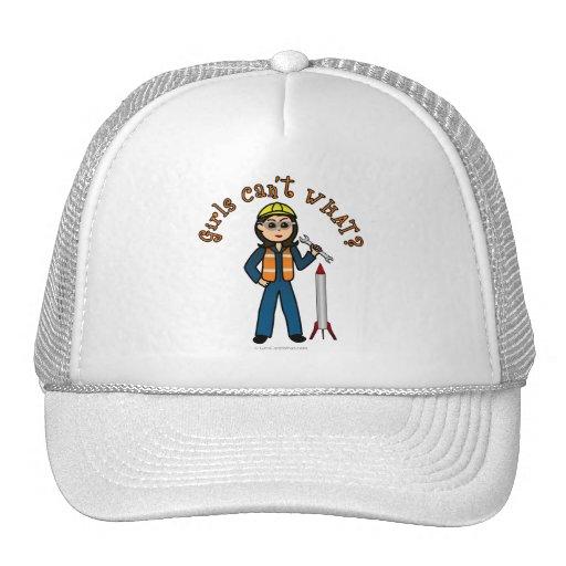 Light Rocket Scientist Girl Mesh Hats