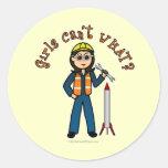 Light Rocket Scientist Girl Sticker