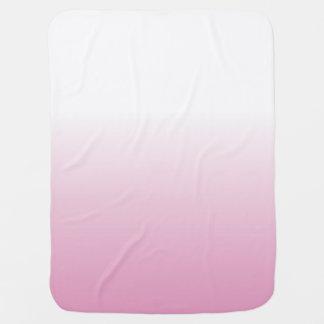 LIGHT ROSE PINK OMBRE BABY BLANKET