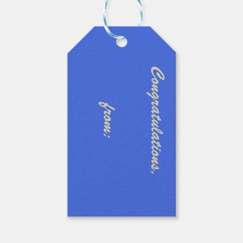 Light Royal Blue 10-Pack of Gift Tags