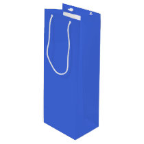 Light Royal Blue Wine Gift Bag - Glossy