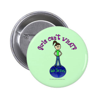 Light Rule The World Girl 2 Inch Round Button