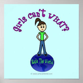 Light Rule The World Girl Poster