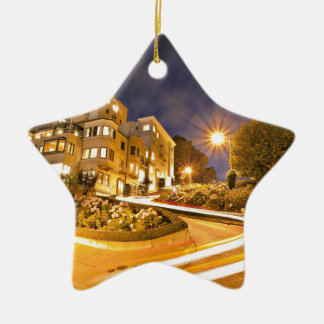 Light Runner - Off the Grid Double-Sided Star Ceramic Christmas Ornament