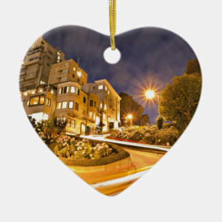 Light Runner - Off the Grid Double-Sided Heart Ceramic Christmas Ornament