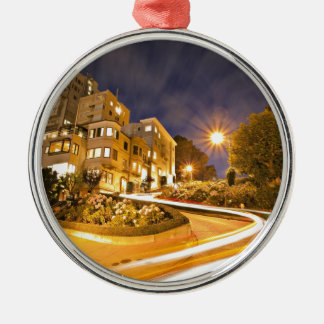 Light Runner - Off the Grid Round Metal Christmas Ornament