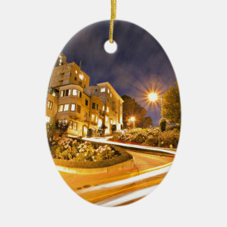 Light Runner - Off the Grid Double-Sided Oval Ceramic Christmas Ornament