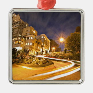 Light Runner - Off the Grid Square Metal Christmas Ornament