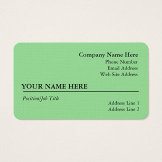 Light Sage Business Card (Linen)