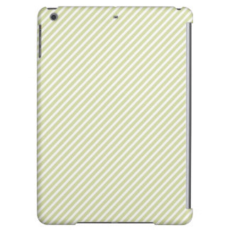 Light Sage Green Diagonal Stripes iPad Air Covers
