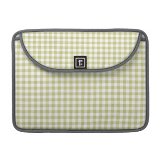 Light Sage Green Gingham; Checkered Pattern Sleeve For MacBook Pro