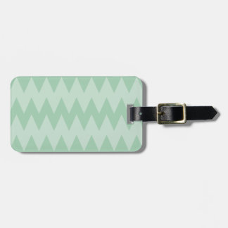 Light Sage Green Zigzags. Travel Bag Tag