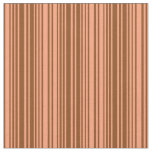 [ Thumbnail: Light Salmon and Brown Colored Pattern of Stripes Fabric ]