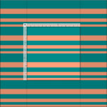 [ Thumbnail: Light Salmon and Dark Cyan Lined Pattern Fabric ]