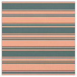 [ Thumbnail: Light Salmon and Dark Slate Gray Pattern Fabric ]