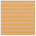 [ Thumbnail: Light Salmon and Goldenrod Colored Lined Pattern Fabric ]