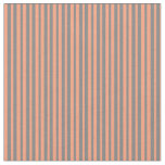 [ Thumbnail: Light Salmon and Grey Stripes/Lines Pattern Fabric ]