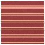 [ Thumbnail: Light Salmon and Maroon Stripes Pattern Fabric ]