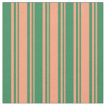 [ Thumbnail: Light Salmon and Sea Green Colored Pattern Fabric ]
