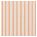 [ Thumbnail: Light Salmon & Beige Colored Lines Fabric ]