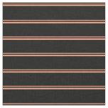 [ Thumbnail: Light Salmon & Black Striped/Lined Pattern Fabric ]