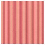 [ Thumbnail: Light Salmon & Crimson Stripes Fabric ]