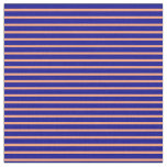 [ Thumbnail: Light Salmon & Dark Blue Colored Pattern Fabric ]