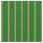 [ Thumbnail: Light Salmon & Dark Green Colored Pattern Fabric ]
