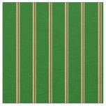 [ Thumbnail: Light Salmon & Dark Green Lines/Stripes Pattern Fabric ]
