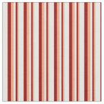 [ Thumbnail: Light Salmon, Dark Red & Mint Cream Lines Fabric ]