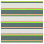 [ Thumbnail: Light Salmon, Green, Gray, Light Cyan & Black Fabric ]