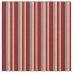 [ Thumbnail: Light Salmon, Grey, and Maroon Striped Pattern Fabric ]