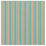 [ Thumbnail: Light Salmon & Light Sea Green Lines Fabric ]