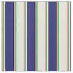 [ Thumbnail: Light Salmon, Sea Green, Beige, Blue & Black Fabric ]