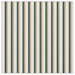 [ Thumbnail: Light Salmon, Sea Green, Black & Mint Cream Lines Fabric ]