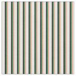 [ Thumbnail: Light Salmon, Sea Green, Black & Mint Cream Lines Fabric ]