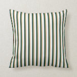 [ Thumbnail: Light Salmon, Sea Green, Black & Mint Cream Lines Throw Pillow ]