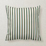 [ Thumbnail: Light Salmon, Sea Green, Black & Mint Cream Lines Throw Pillow ]