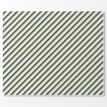 [ Thumbnail: Light Salmon, Sea Green, Black & Mint Cream Lines Wrapping Paper ]