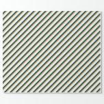 [ Thumbnail: Light Salmon, Sea Green, Black & Mint Cream Lines Wrapping Paper ]