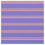 [ Thumbnail: Light Salmon & Slate Blue Striped Pattern Fabric ]