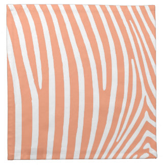 Light Salmon Zebra Stripes Napkin