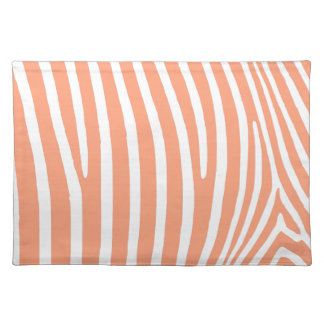 Light Salmon Zebra Stripes Placemat