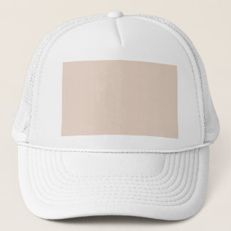 Light Sandy Beige Apricot Color Only Trucker Hat