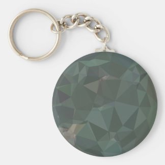 Light Sea Green Abstract Low Polygon Background Keychain