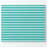 [ Thumbnail: Light Sea Green and Light Cyan Pattern Wrapping Paper ]