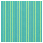 [ Thumbnail: Light Sea Green and Light Green Lines Fabric ]