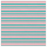 [ Thumbnail: Light Sea Green and Light Pink Colored Pattern Fabric ]