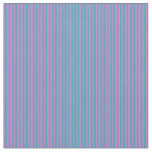 [ Thumbnail: Light Sea Green and Orchid Pattern Fabric ]